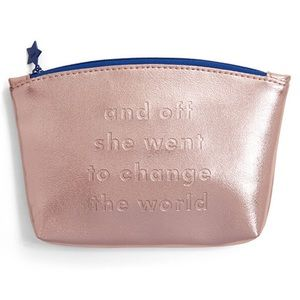 "Small makeup tote ""Change the World"""